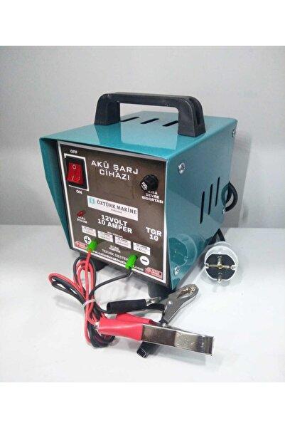 Makine 12 V 10 Amper Akü Şarj Cihazı (1 Yıl Tam Garanti)
