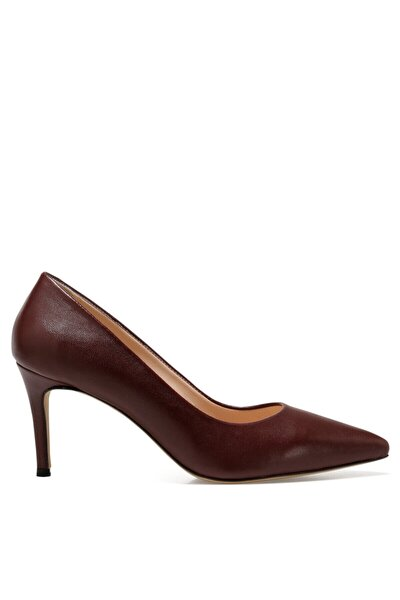 CAVIR Bordo Kadın Hakiki Deri Topuklu Ayakkabı 100581947