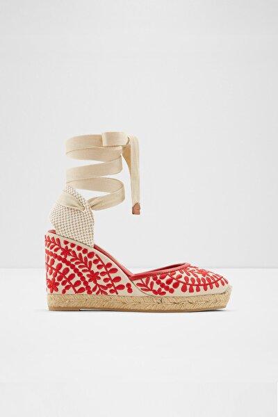 Kadın Kırmızı Dolgu Topuklu Ayakkabı MUSCHINO