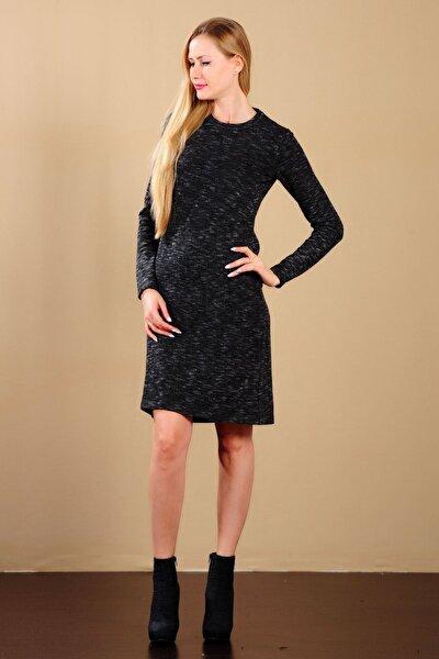 Kadın Kırçıllı Füme Elbise