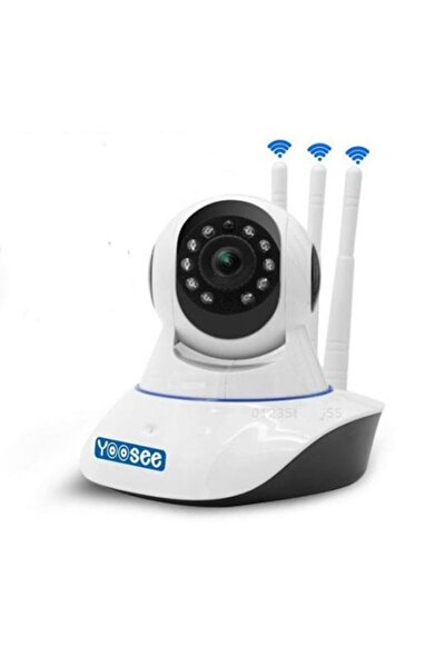 Beyaz  3 Anten Kablosuz Wifi 1080p Full Hd 3 mp Hareketli Kamera Ys- 03