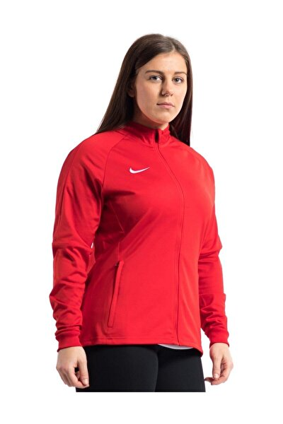 Kadın Kırmızı Fermuarlı Ceket