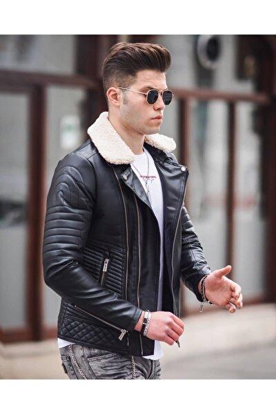 Erkek Siyah Fermuarlı  Ceket