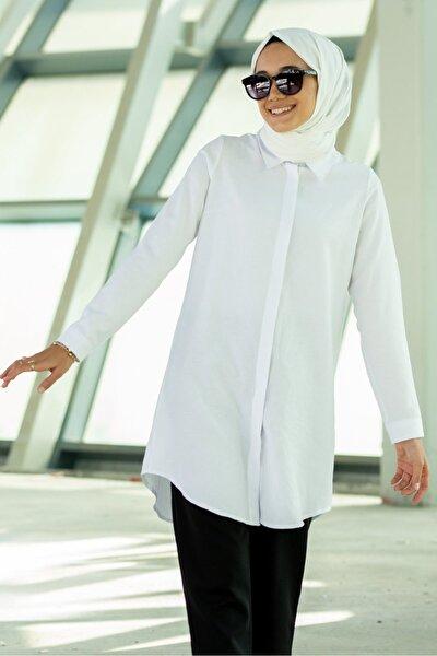 Kadın Beyaz Colin Gömlek