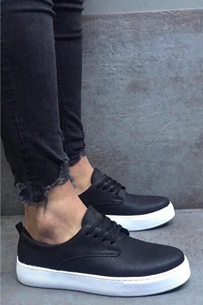 Erkek Siyah Bağcıklı Günlük Ayakkabı