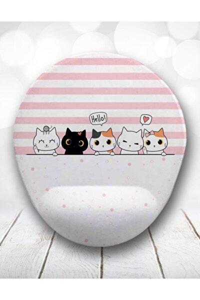 Neşeli Kediler Bilek Destekli Mousepad