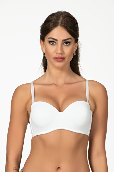 Kadın Beyaz Desteksiz Sütyen 3102