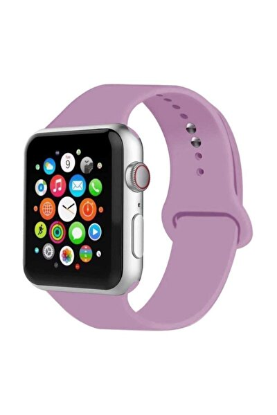 Apple Watch Kordon 38mm 40mm Silikon Lila Kordon