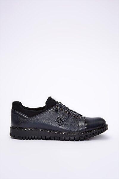 Hakiki Deri Lacivert  Sneaker 02AYH201000A680