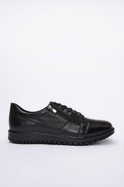 Hakiki Deri Erkek Siyah Sneaker 02AYH200850A100