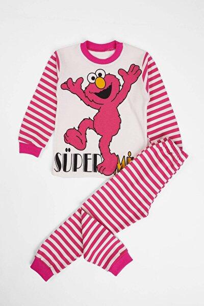 Çocuk Pijama Takımı Canavar Baskılı 4-6 Yaş