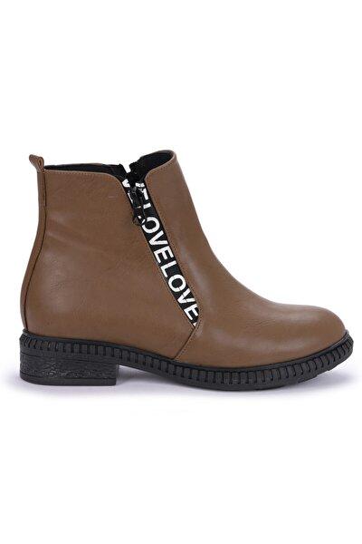 Kadın Vizon C901-07 Cilt Termo Taban  Bot Ayakkabı