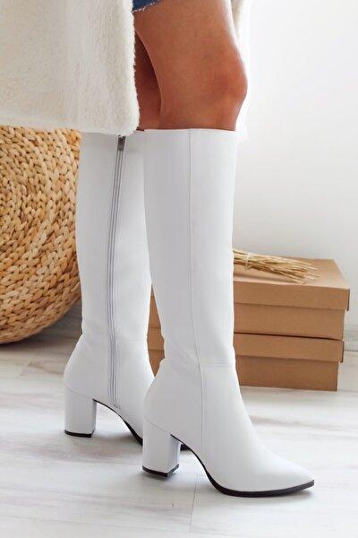 Kadın Beyaz Çizme