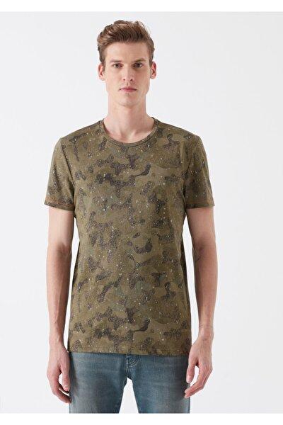 Erkek Baskılı Yeşil T-Shirt