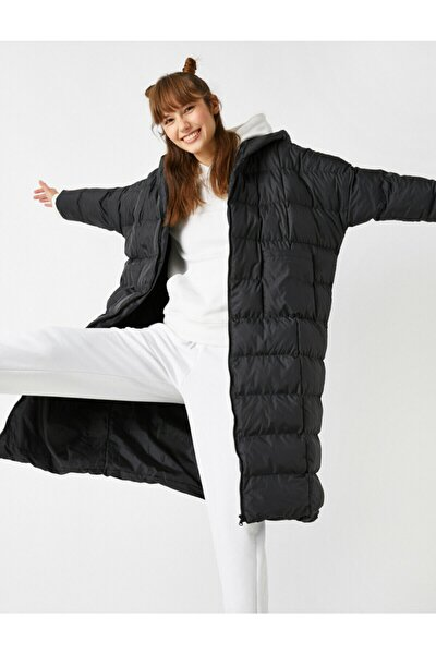 Kadın Siyah Coats Kaban