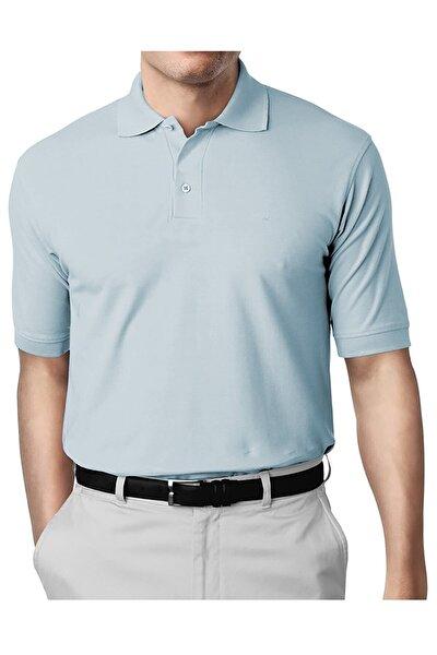 Erkek Mavi Modern Fit Polo Yaka T-shirt