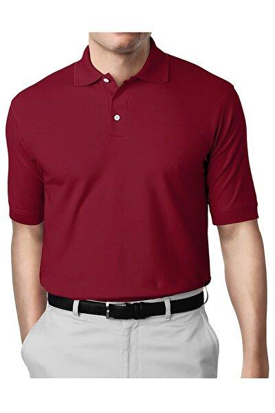 Erkek Bordo Modern Fit Polo Yaka T-shirt