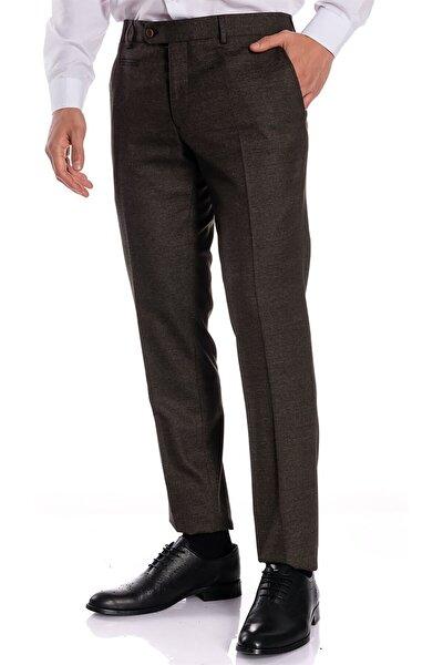 Erkek Kahverengi Slim Fit Pantolon