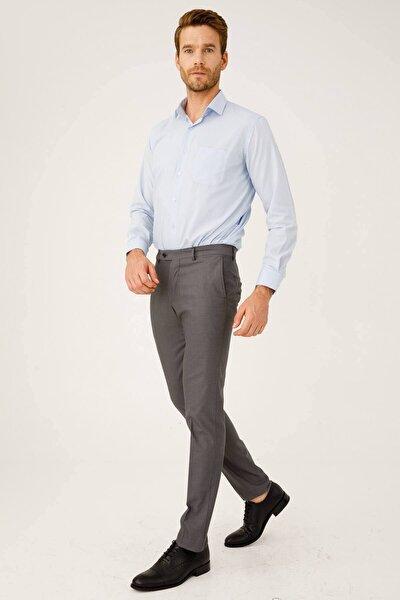 Erkek Duman Gri Dar Kalıp Pantolon