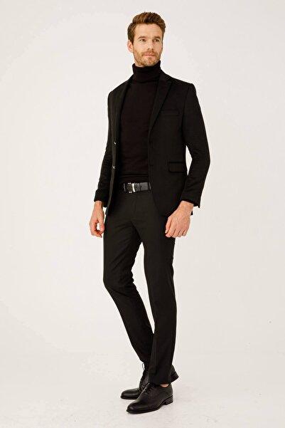 Erkek Siyah Rahat Kalıp Pantolon