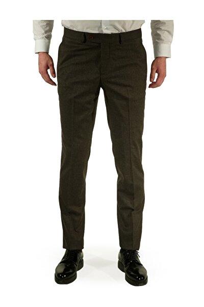 Erkek Kahverengi Regular Fit Pantolon