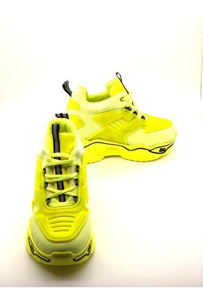 Kadın Yeşil Fashion Yüksek Taban Sneaker