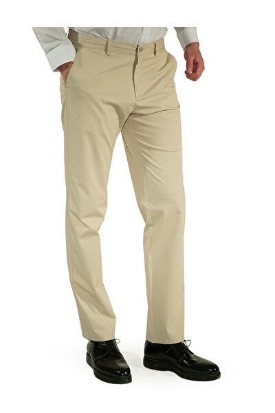 Erkek Bej Regular Fit Pantolon