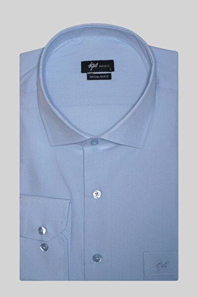 Erkek Açık Mavi Regularfıt Rahat Kalıp  Klasik Gömlek