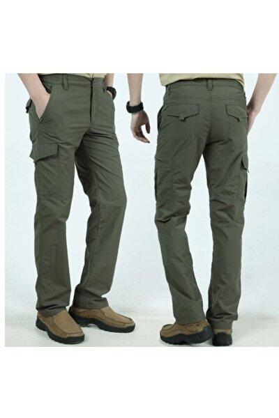 Unisex Yeşil  Model Yaz Tarzı Yüksek Kaliteli Elastik Kumaş  Rahat Kullanımlı Taktikal Pantolon