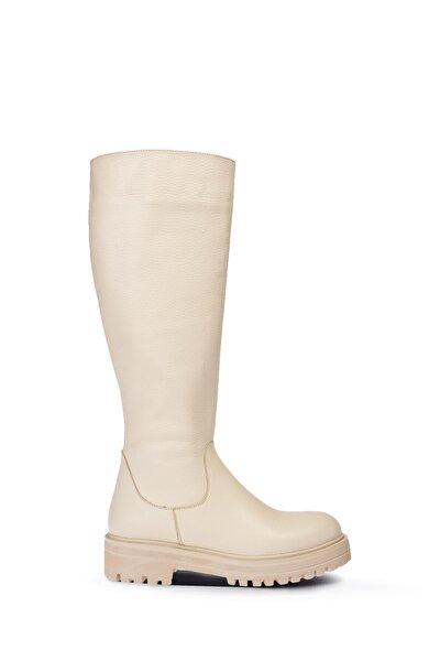 Kadın Bej Deri Çizme