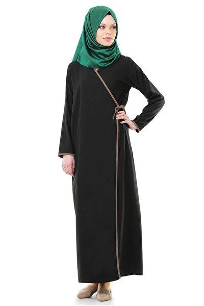 Kadın Siyah Yandan Bağlamalı Namaz Elbisesi