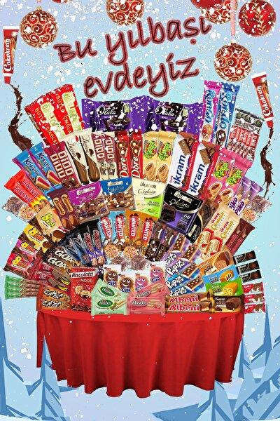 102 Parça Yıl Başında Evdeyiz Çikolata Paketi