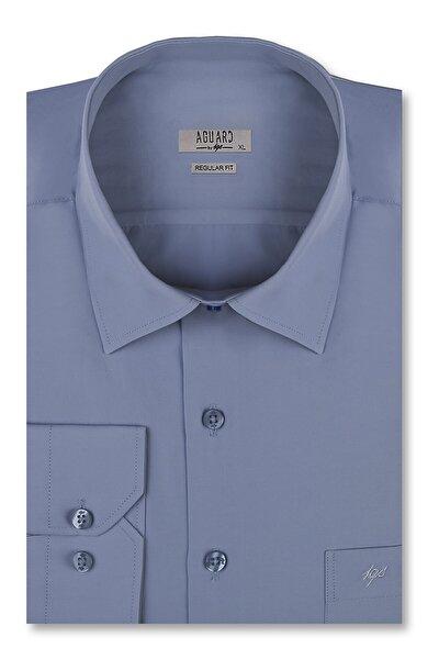 Erkek Koyu Mavi Slim Fit Gömlek