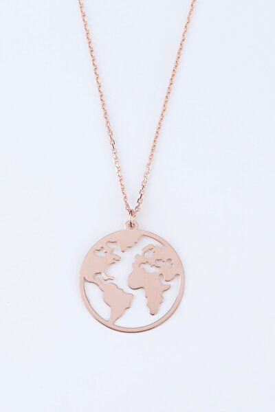 Kadın Pembe Dünya Gümüş Kolye