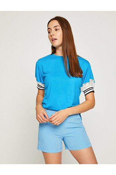 Kadın Mavi T-Shirt 8YAK13826EK
