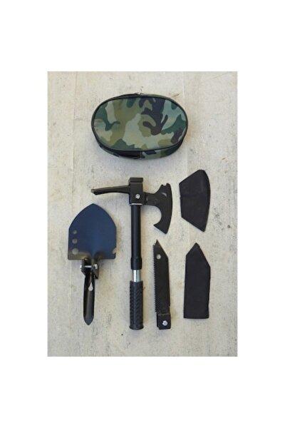 Katlanabilir Çelik Çekiç Kürek Balta Bıçak Çapa Testere Multitools Kamp Seti