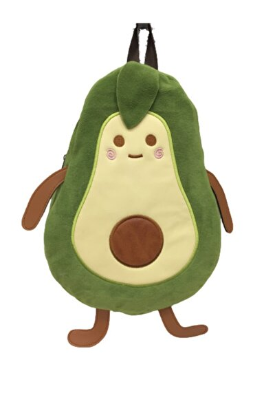 Unisex Çocuk Yeşil Avokado Temalı Sırt Çantası