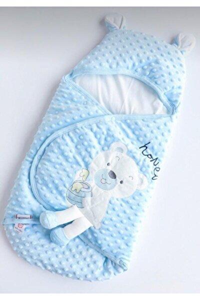 Erkek Bebek Mavi Sevimli Ayıcıklı Nohut Kundak