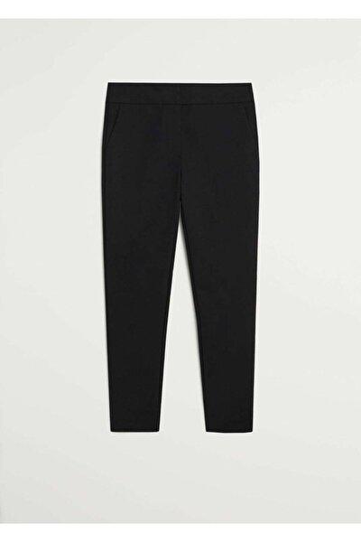 Kadın Siyah Dar Kesim Takım Pantolonu 77082888