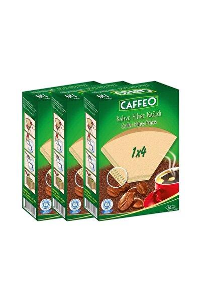 Kahve Filtre Kağıdı 1x4 80 Adet 3 Lü Set (240 Adet)