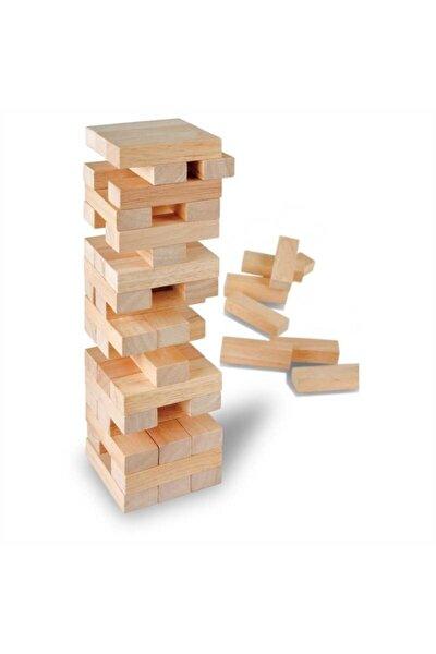 Çocuklar Için Eğitici Denge Oyunu Ahşap Jenga Yıkılmaz Kule Yapımı Ahşap Oyuncak 54 Parça