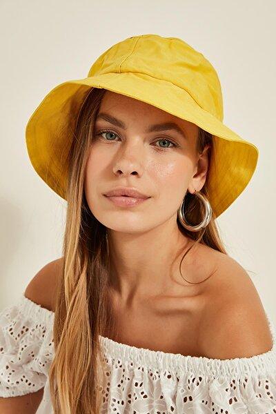 13372 Sarı Bucket Şapka