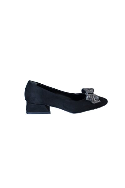 Kadın Siyah Fiyonk Detaylı Ayakkabı 800 508