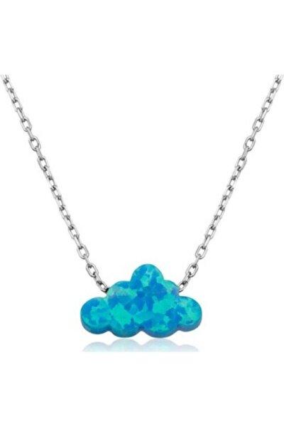 Kadın 925 Ayar Gümüş Bulut Opal Kolye