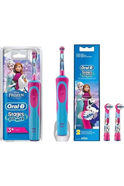 Stages Power Frozen + Frozen 2'li Yedek Başlıklı Şarjlı Çocuk Diş Fırçası