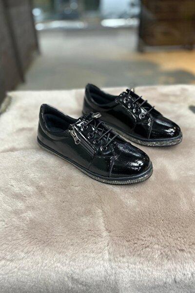 Kadın Siyah Rugan  Ayakkabı