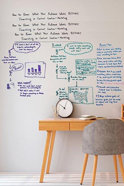 2 Tane Şeffaf Akıllı Kağıt Tahta 100x150 Cm Yazı Tahtası + Kalem Duvara,cama,tahtaya Uygulanır
