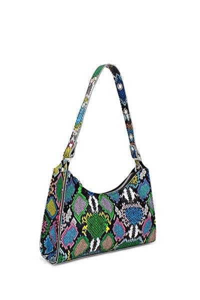 Kadın Karışık Renkli Baguette Çanta 195