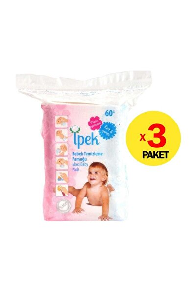 Axi Bebek Temizleme Pamuğu 60'lı 3'lü Set