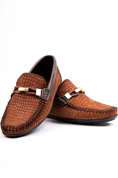 Erkek Taba Hakiki Deri Loafer Ayakkabı Brc300 Taba